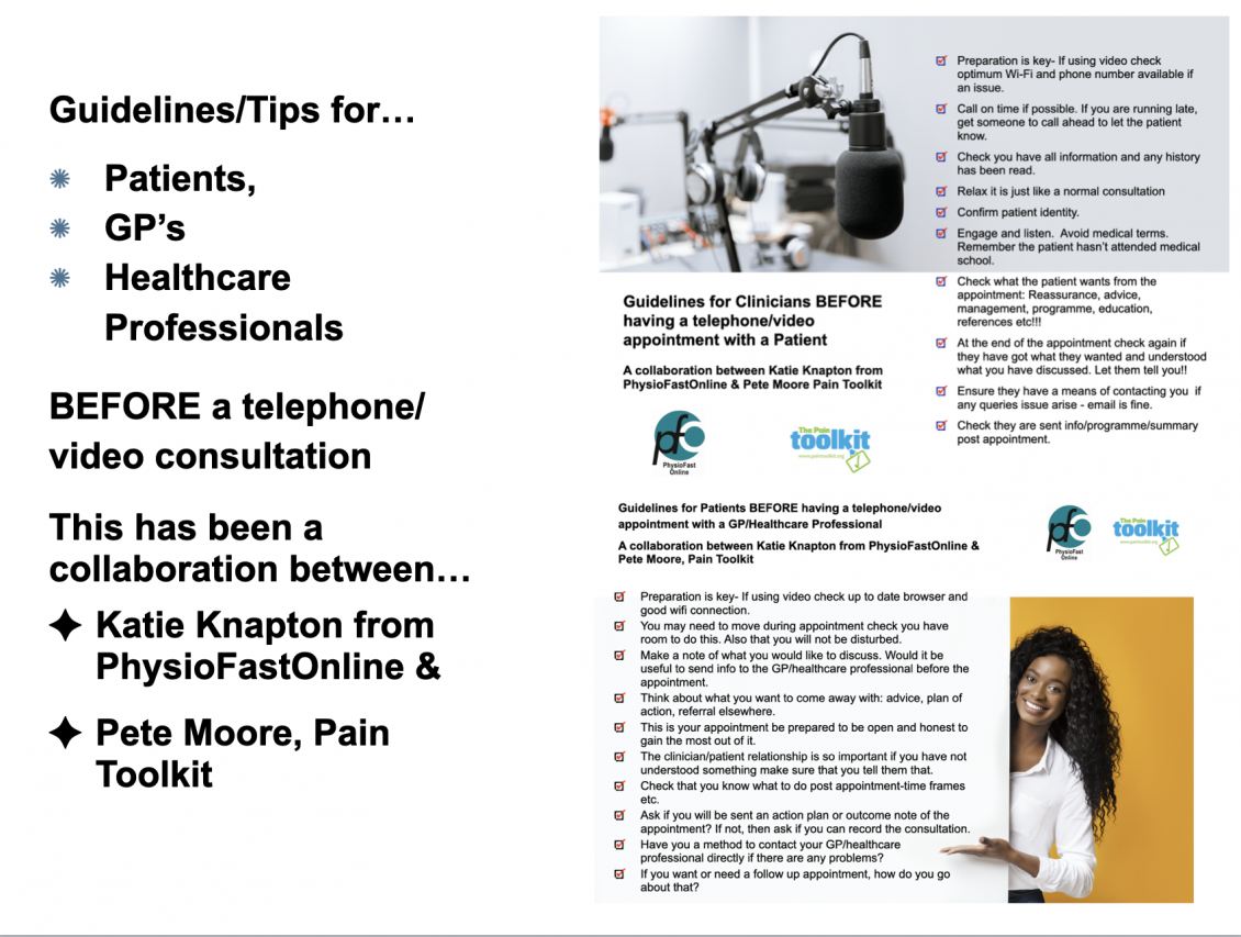 Tips and Guidelines for Patients and GP/Healthcare Professionals