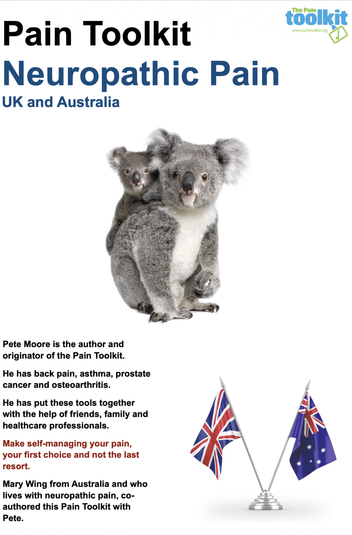 Pain Toolkit Neuropathic Pain UK and Australia